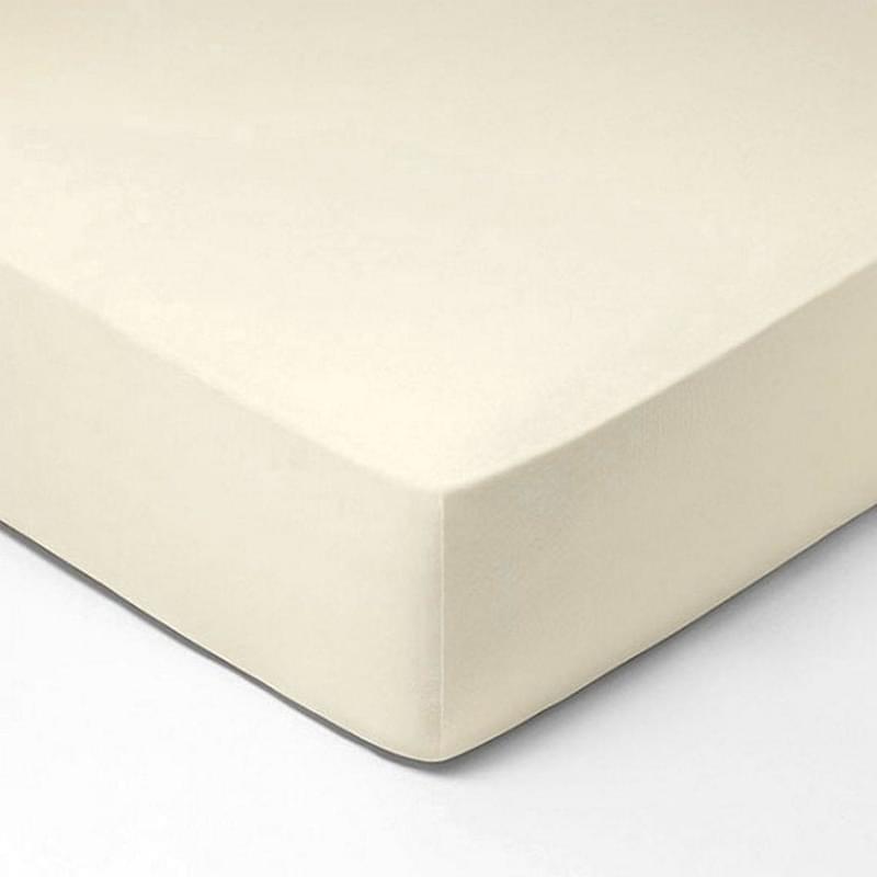 Forbyt, Prostěradlo, Jersey, krémová 140 x 200 cm