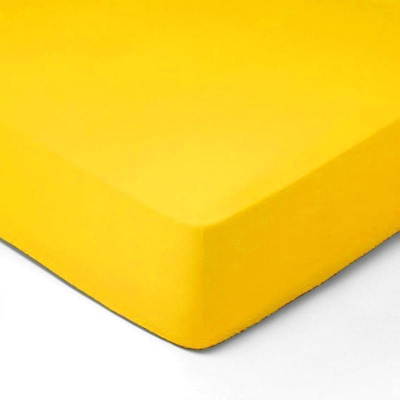 Forbyt, Prostěradlo, Jersey, žlutá 140 x 200 cm