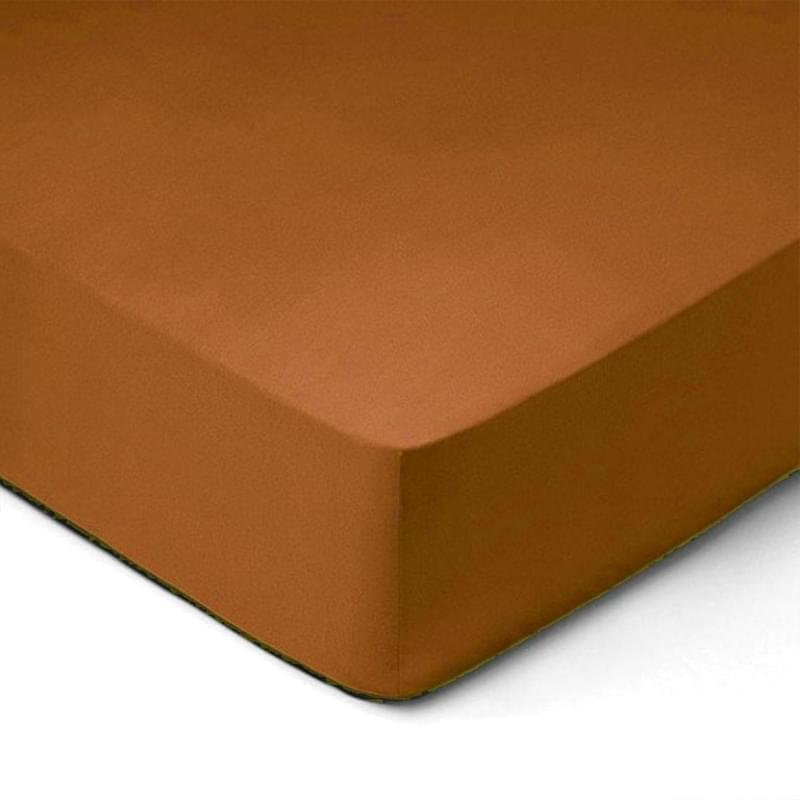 Forbyt, Prostěradlo, Jersey, hnědá 140 x 200 cm