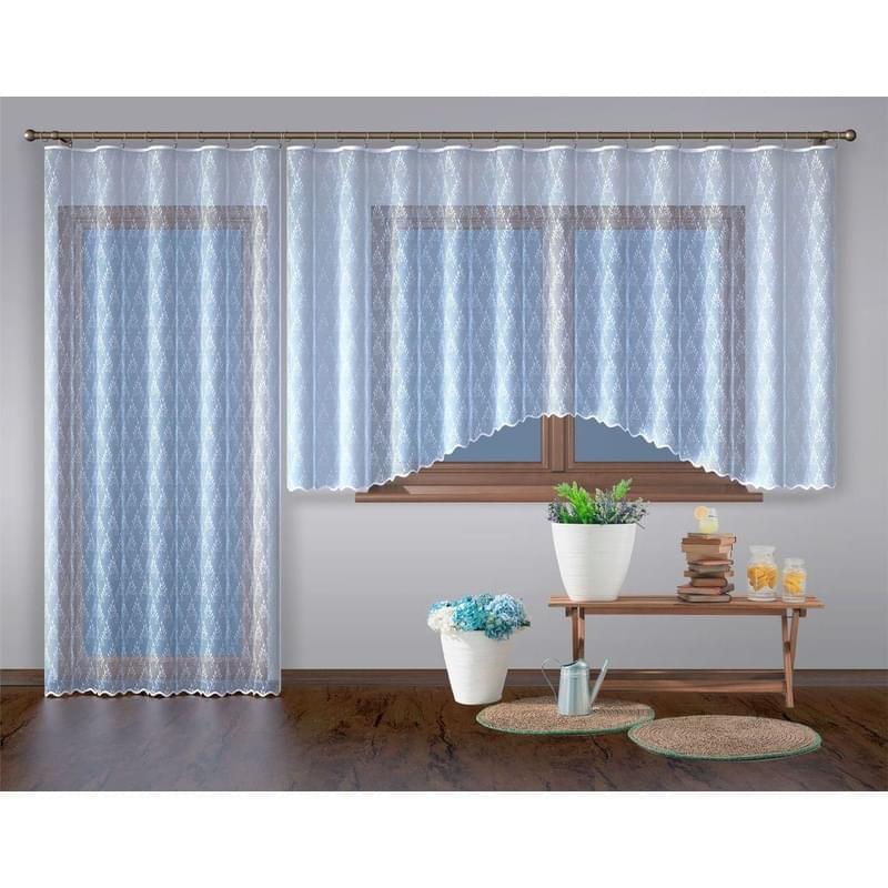 Forbyt, Hotová záclona nebo balkonový komplet, Diana, bílá 200 x 250 cm