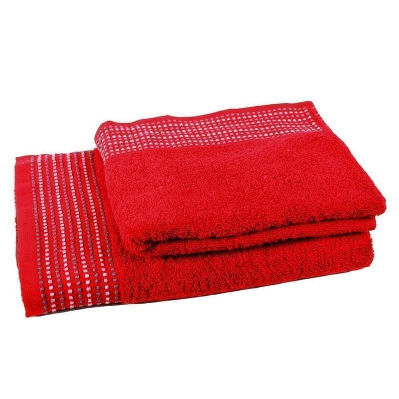 Forbyt, Ručník nebo osuška bavlněná, Dots, červená 50 x 90 cm