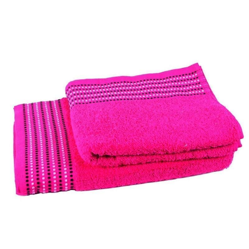 Forbyt, Ručník nebo osuška bavlněná, Dots, růžová 50 x 90 cm