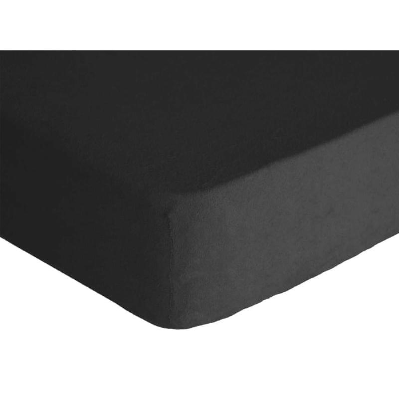 Forbyt, Prostěradlo, Froté Premium, černá 70 x 140 cm