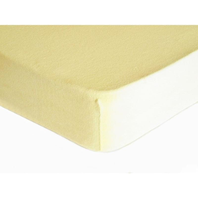 Forbyt, Prostěradlo, Froté Premium, krémové 70 x 140 cm