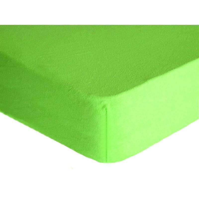 Forbyt, Prostěradlo, Froté Premium, zelené 140 x 200 cm