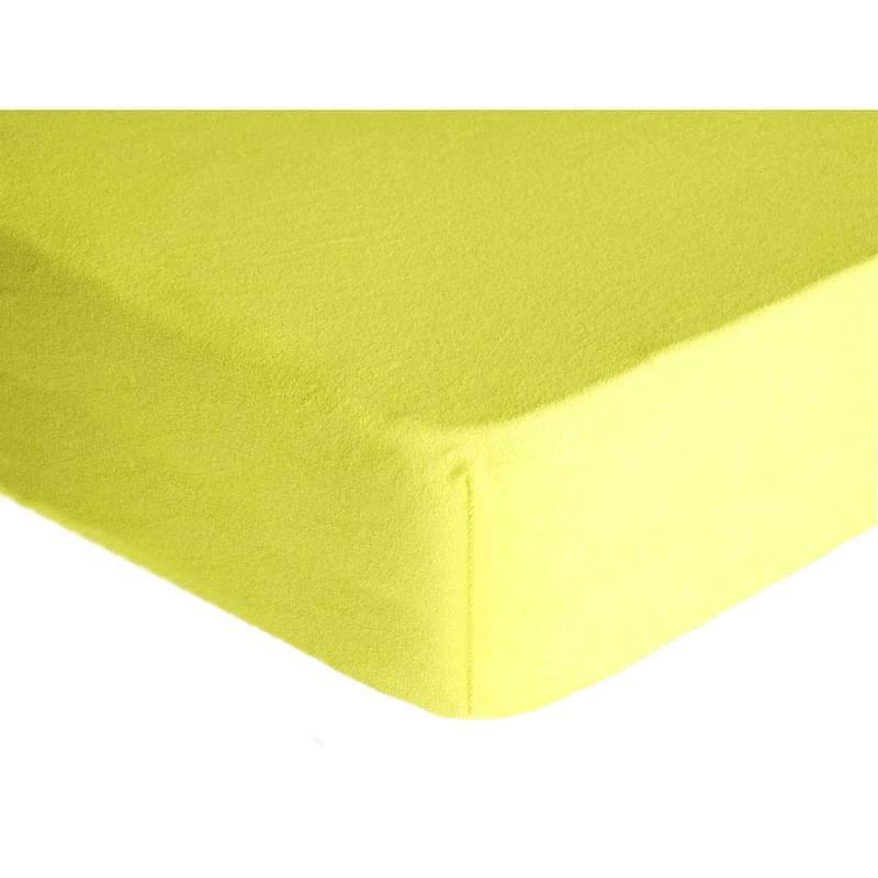Levně Forbyt, Prostěradlo, Froté Premium, světle žluté 100 x 200 cm