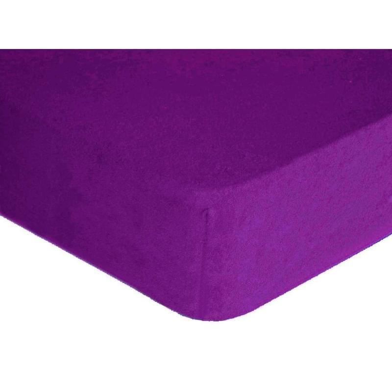 Forbyt, Prostěradlo, Froté Premium, tmavěfialové 70 x 140 cm