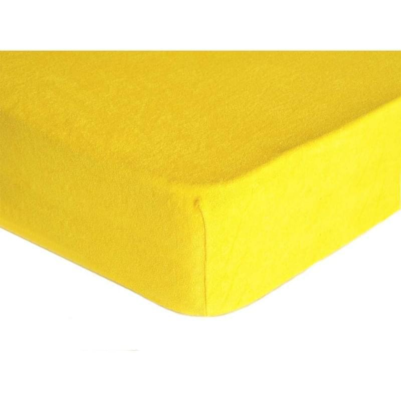Forbyt, Prostěradlo, Froté Premium, žluté 70 x 140 cm