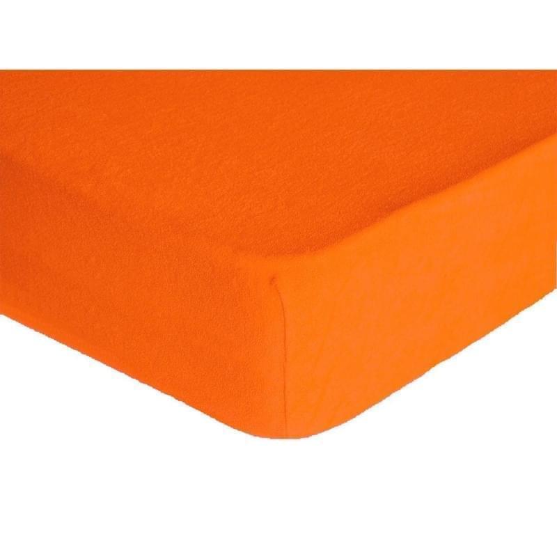 Forbyt, Prostěradlo, Froté Premium, oranžové 70 x 140 cm