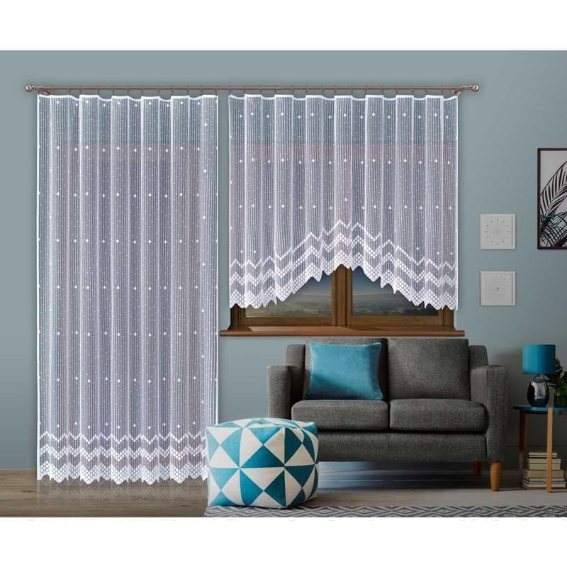Forbyt, Hotová záclona nebo balkonový komplet, Martina, bílá 250 x 120 cm