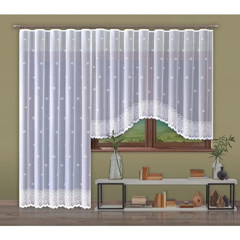Forbyt, Hotová záclona nebo balkonový komplet, Helix, bílá 250 x 120 cm