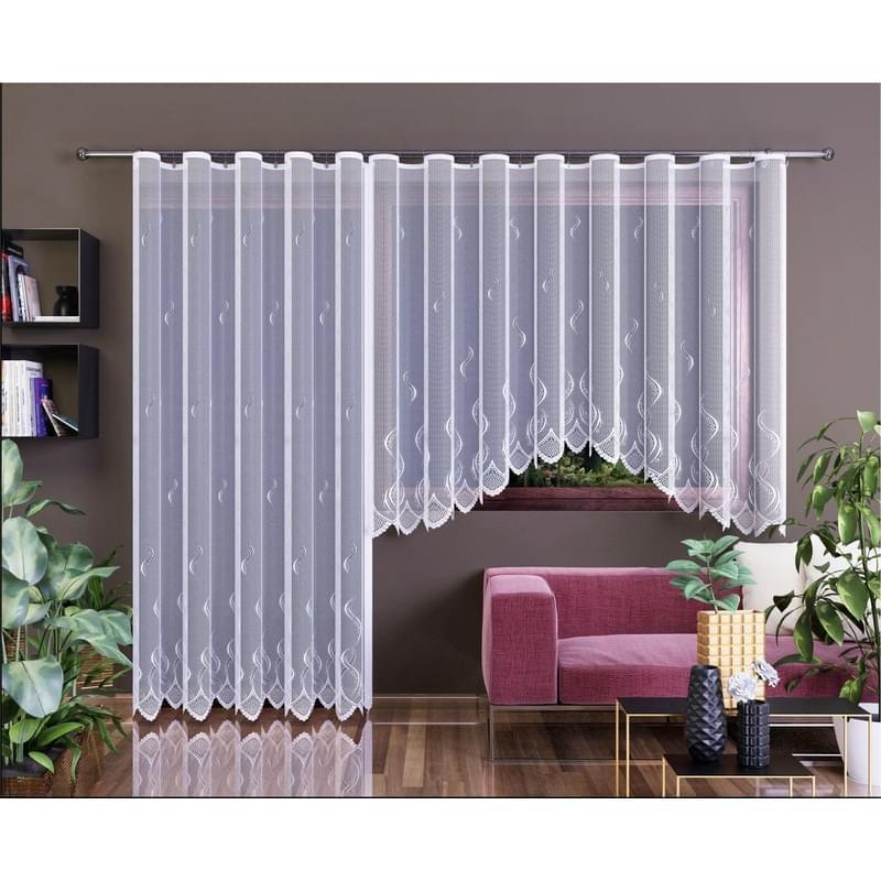 Forbyt, Hotová záclona nebo balkonový komplet, Irma, bílá 400 x 160 cm