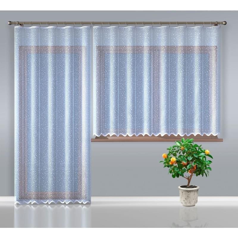 Forbyt, Hotová záclona nebo balkonový komplet, Loreta, bílá 250 x 120 cm