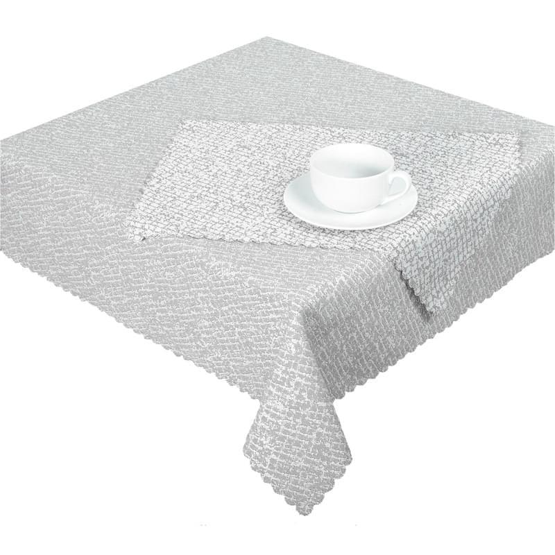Levně Forbyt, Ubrus žakárový, Decora Mar, šedý 90 x 90 cm