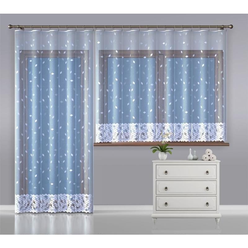 Forbyt, Hotová záclona nebo balkonový komplet, Melisa, bílá 350 x 170 cm