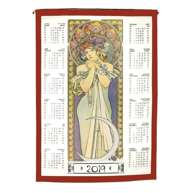 Forbyt, Kalendář textilní, Alfons Mucha 2019