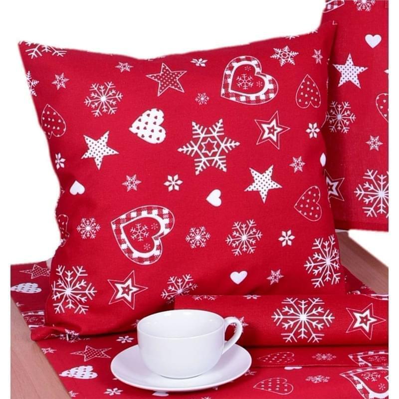 Forbyt, Návlek na polštář, Vánoční srdce, červené