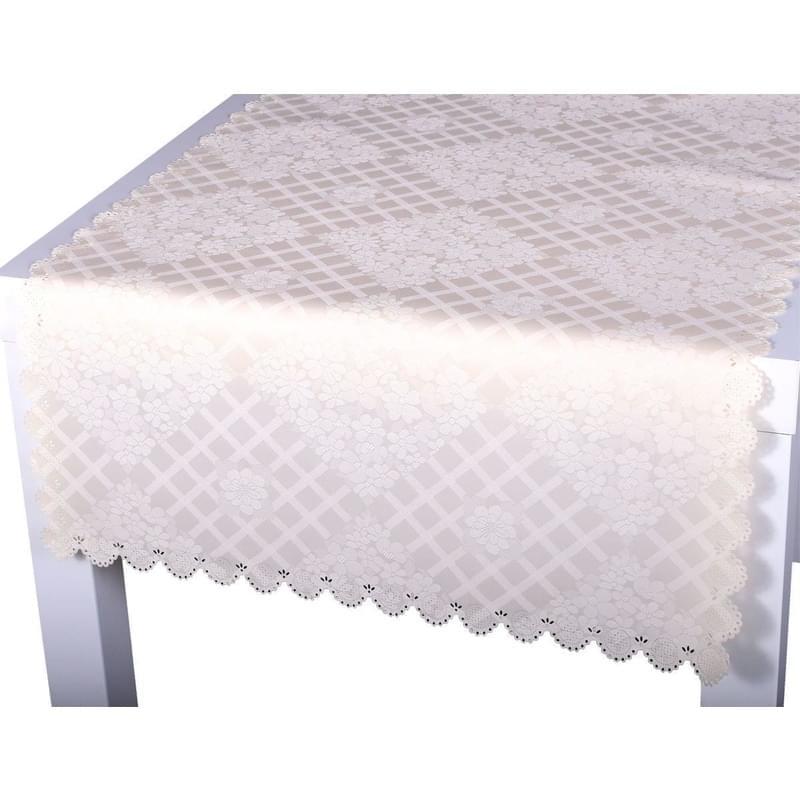 Forbyt, Ubrus s nešpínivou úpravou, Protiskluzový Kvítí, smetanová 50 x 100 cm