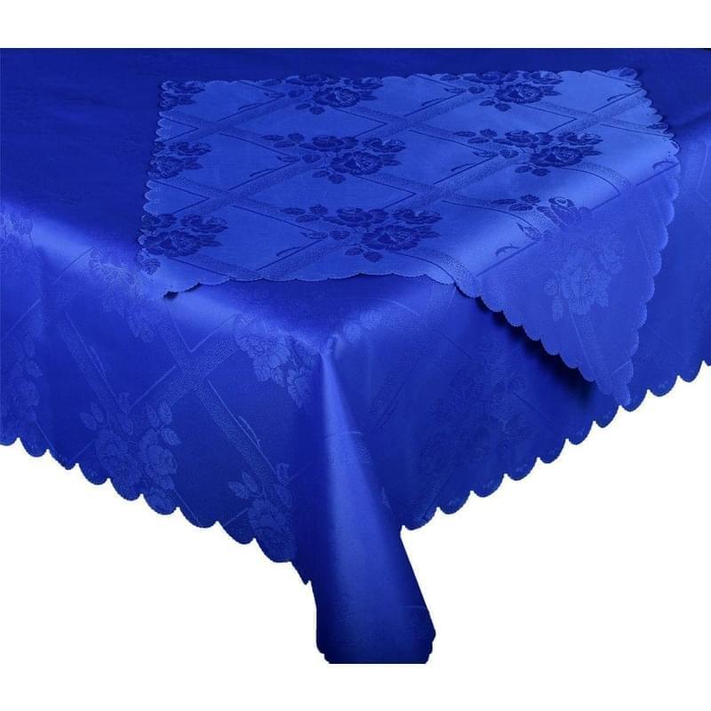 Forbyt, Ubrus s nešpínivou úpravou, Protiskluzový Růže komplet, modrý, 1 ks + 4 ks