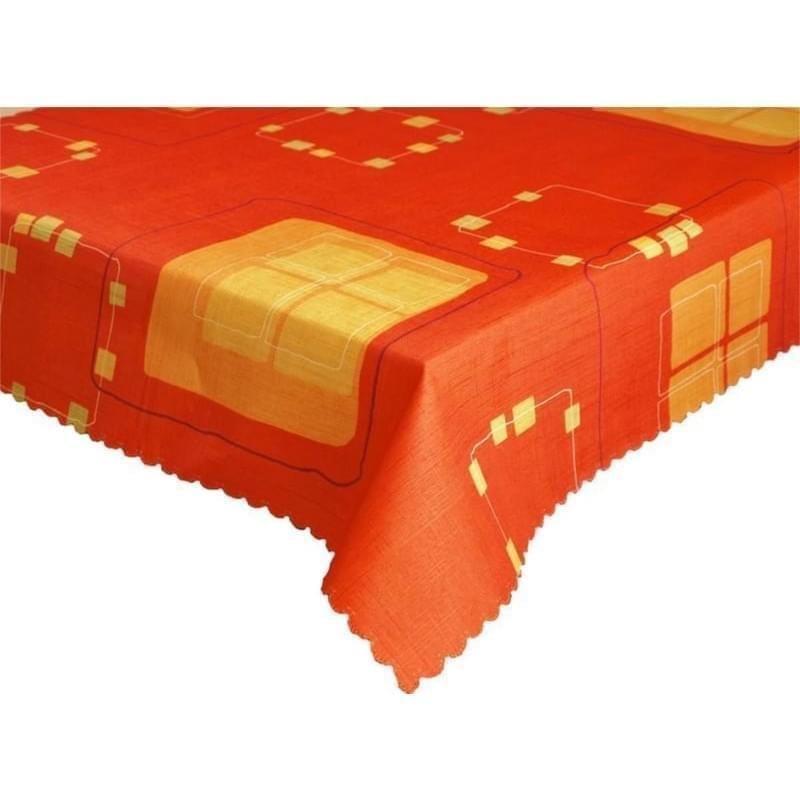 Forbyt Ubrus s nešpinivou úpravou, Geometrie, červený 50 x 100 cm