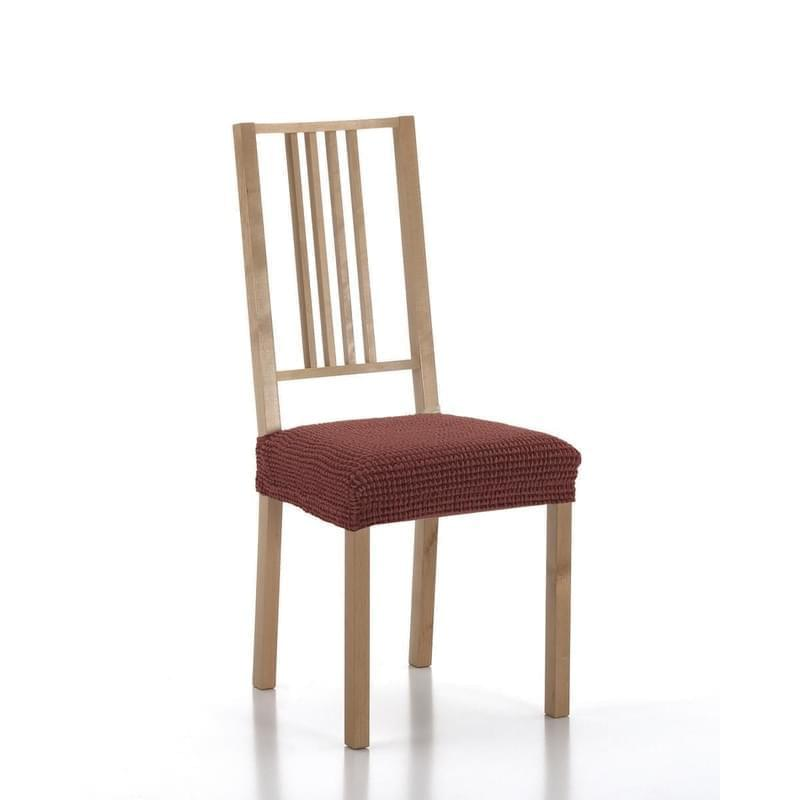 Forbyt, Potah elastický na sedák židle, SADA komplet 2 ks, cihlový
