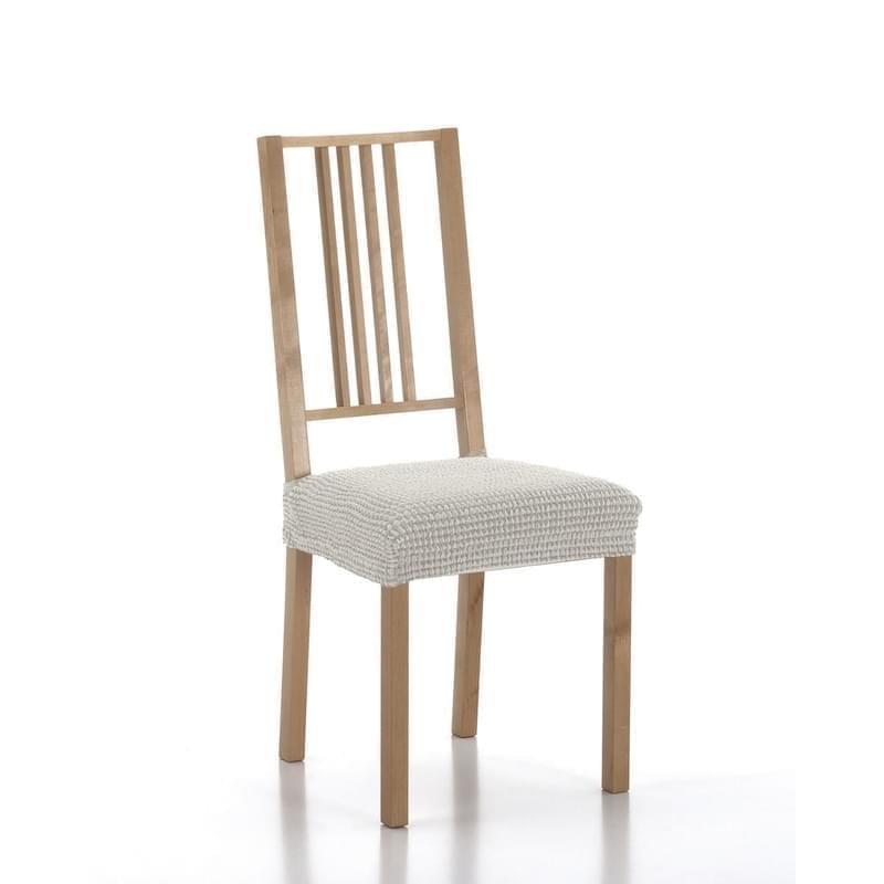 Forbyt, Potah elastický na sedák židle, SADA komplet 2 ks, ecru