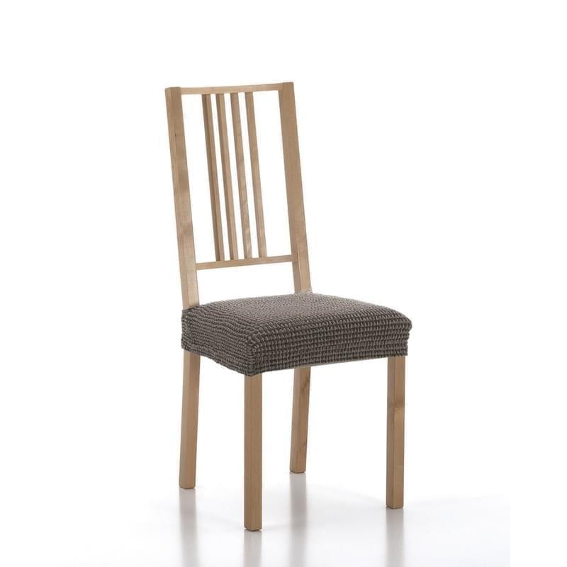 Forbyt, Potah elastický na sedák židle, SADA komplet 2 ks, hnědý
