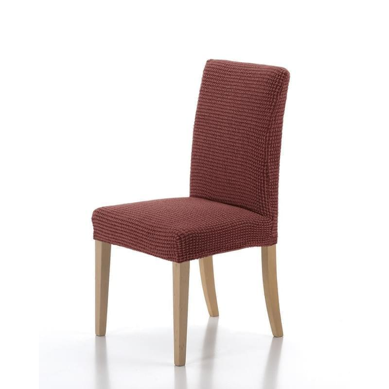Forbyt, Potah elastický na celou židli, komplet 2 ks SADA, cihlová