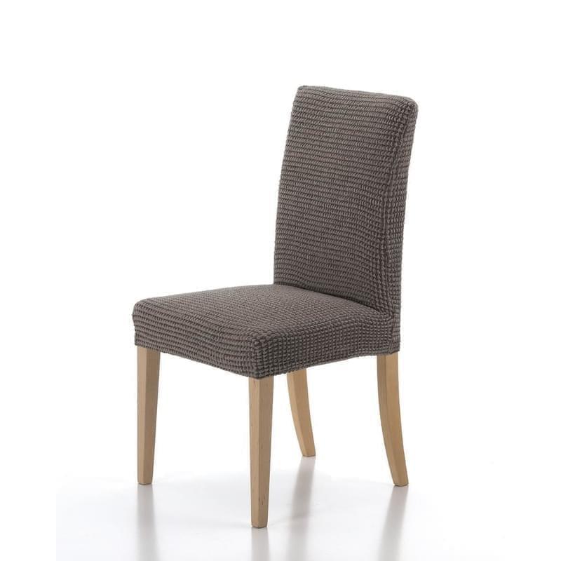 Forbyt, Potah elastický na celou židli, komplet 2 ks SADA, hnědý