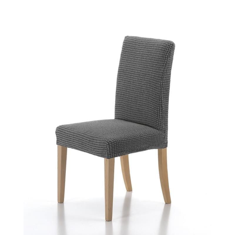 Forbyt, Potah elastický na celou židli, komplet 2 ks SADA, šedý