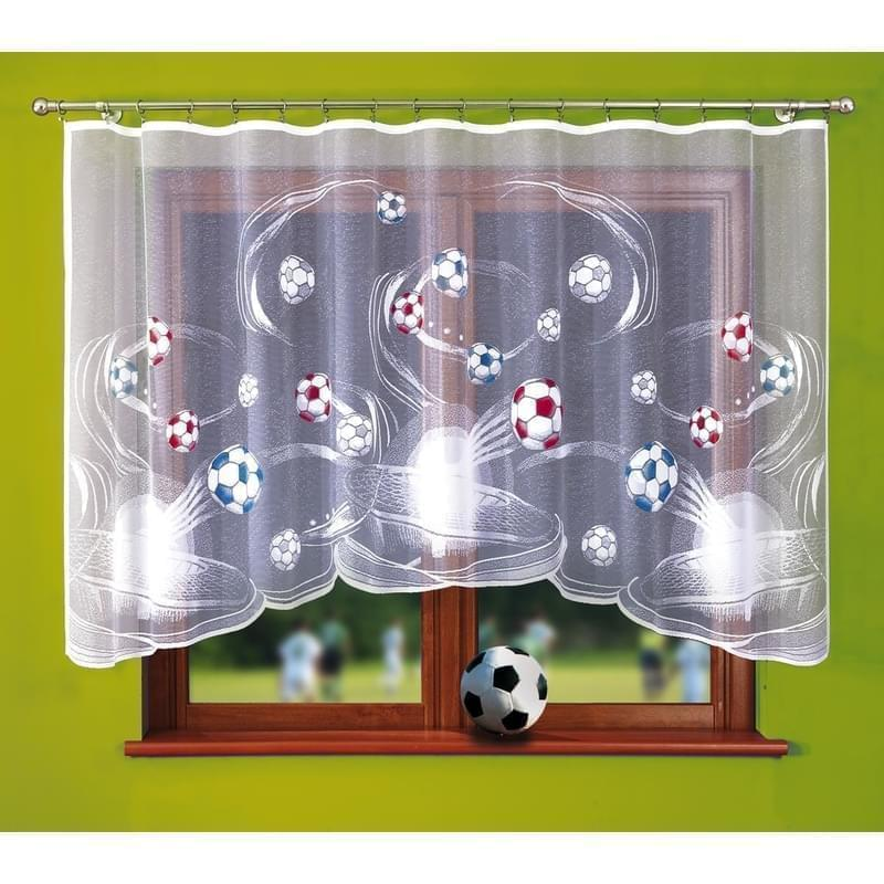 Forbyt, Fotbalová záclona, Viktor, 300 x 150 cm, modrá 300 x 150 cm barevná