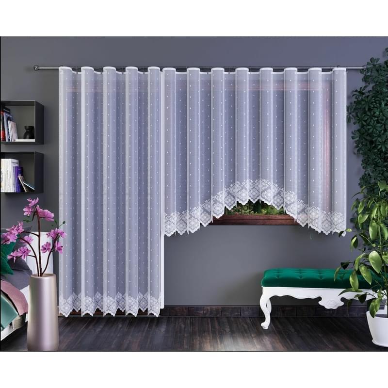 Forbyt, Hotová záclona nebo balkonový komplet, Xenie, bílá 350 x 160 cm
