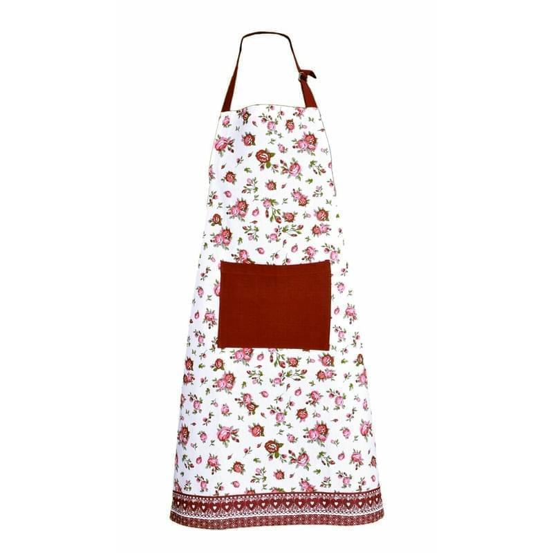 Forbyt, Zástěra kuchyňská, Růžičky, červená