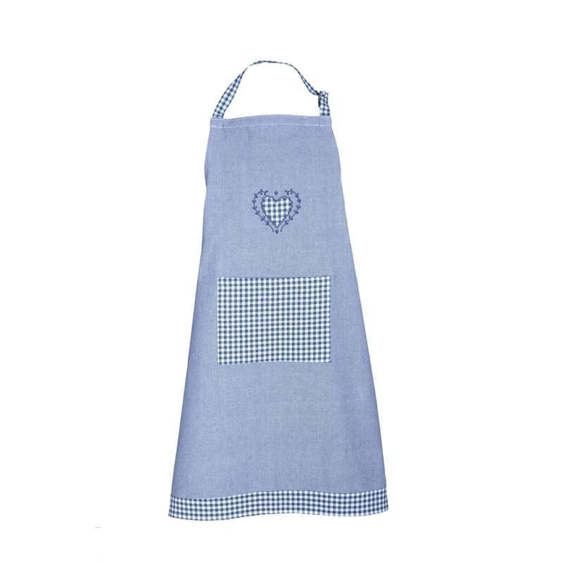 Forbyt, Zástěra kuchyňská, Srdíčko a káro, modrá