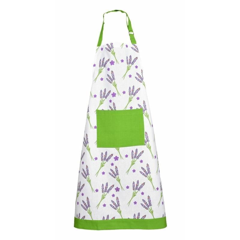 Zástěra kuchyňská, Levandule,zeleno- fialová