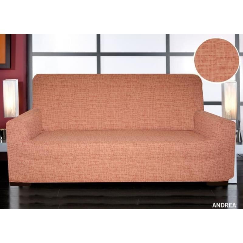 Forbyt, Potah elastický na sedací soupravu, Andrea, cihlová dvojkřeslo - š. 120 - 160 cm