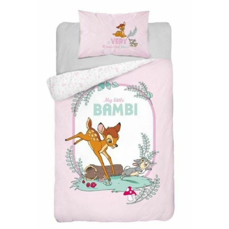 Forbyt, Povlečení dětské do postýlky, Bambi, růžový