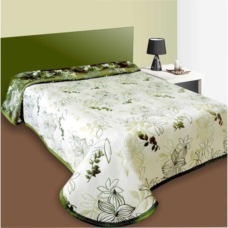 Levně Forbyt Přehoz na postel Lisabon zelený 140 x 220 cm