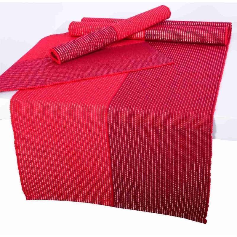 Forbyt, Prostírání bavlněné, Červeno-bordové lesklé 40 x 120 cm