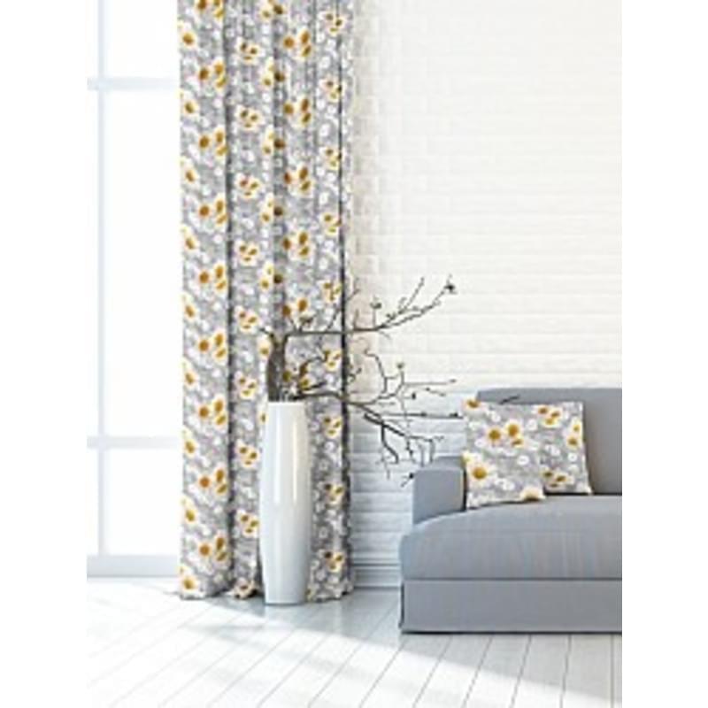 Forbyt, Závěs dekorační nebo látka, OXY Chryzantéma, šedá, 150 cm